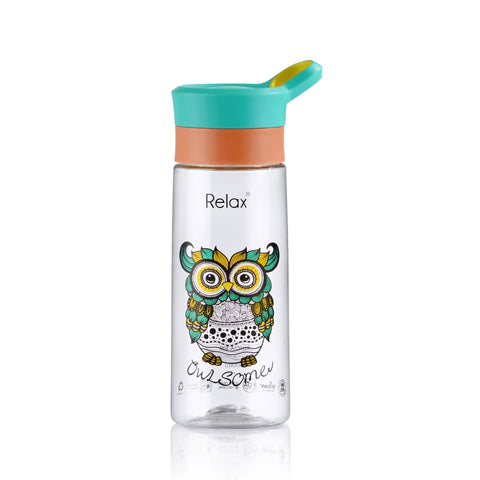 600ML RELAX TRITAN WATER BOTTLE - D8260 OWL