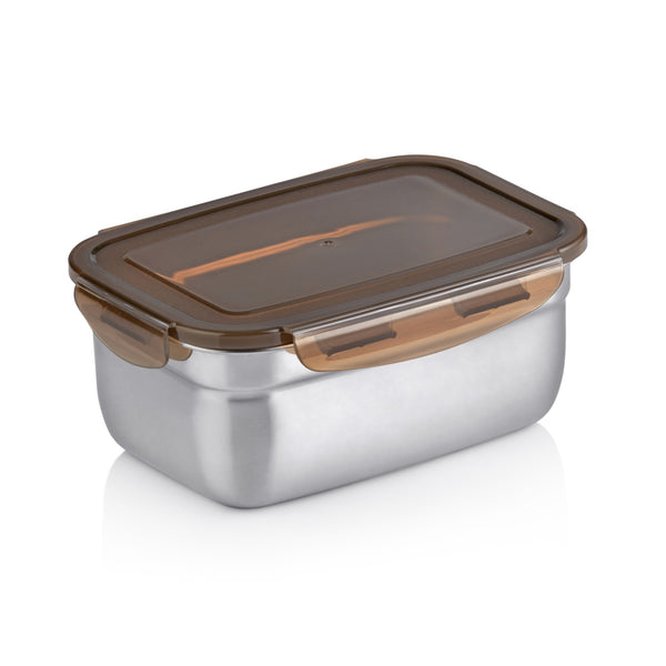 RELAX STAINLESS STEEL RECTANGULAR FOOD CONTAINER - 5 SIZE