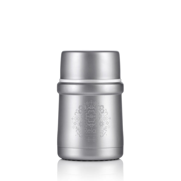 RELAX 500ML 18.8 STAINLESS STEEL THERMAL FOOD JAR - SILVER