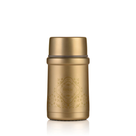 RELAX 720ML 18.8 STAINLESS STEEL THERMAL FOOD JAR - GOLD