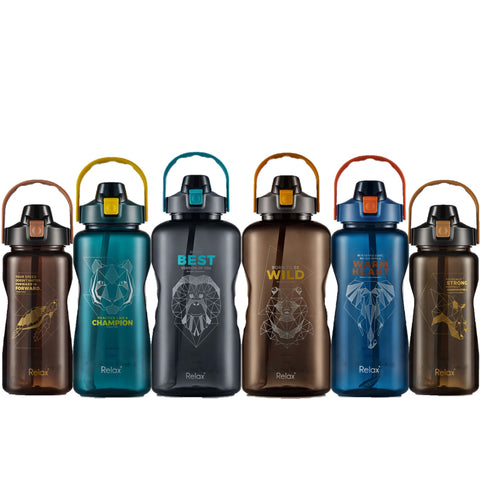 ENDANGERED SPECIES WATER BOTTLES WITH STRAW (SET - 6PCS)
