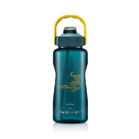 <LIMITED EDITION> 2000ML RELAX TRITAN WATER BOTTLE WITH STRAW - D7420 SELAMATKAN HARIMAU MALAYA