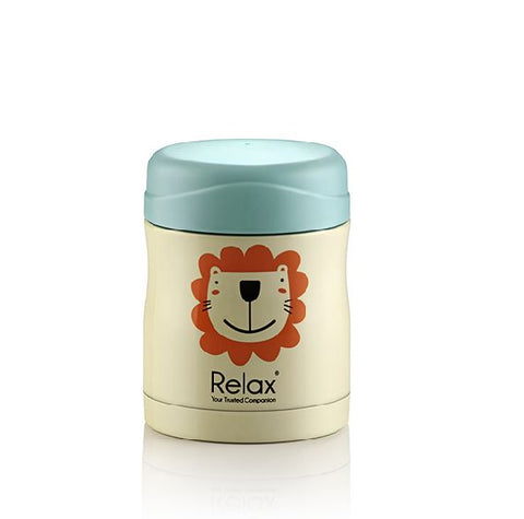 RELAX 300ML 18.8 STAINLESS STEEL THERMAL FOOD JAR - LION