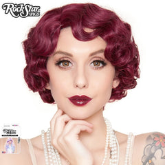 1920's Flapper Waves - Burgundy