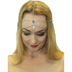 1920's Flapper Silver Head Chain