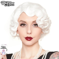1920's Flapper Finger Waves Wig - White