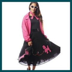 50's Ladies Poodle Skirt and Jacket - Hire
