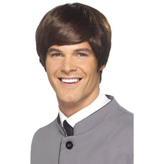 60's Male Mod Wig - Brown