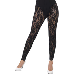 1980s Black Lace Leggings