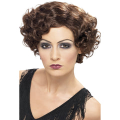 20s Brown Flirty Flapper Wig