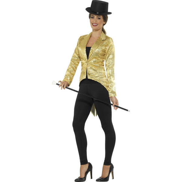 Gold Tailcoat Jacket - Ladies