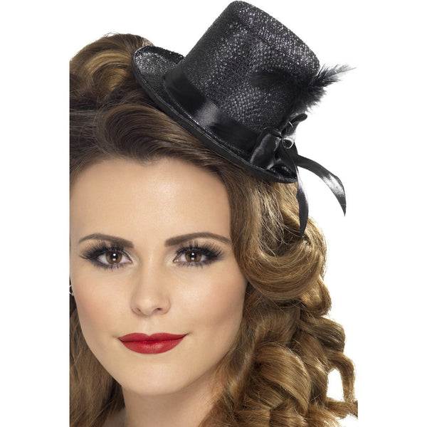Black Mini Top Hat