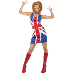 Ginger Power, 1990's Iconic Union Jack Costume