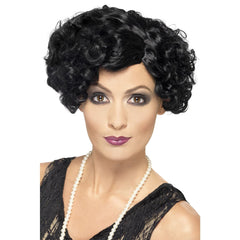 1920s Black Flirty Flapper Wig