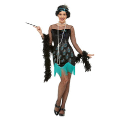 1920s Peacock Sequin Design Flapper Costume