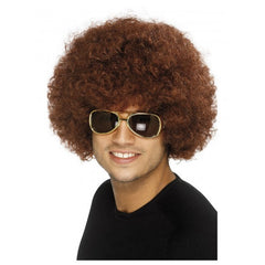 70's Funky Brown Afro Wig