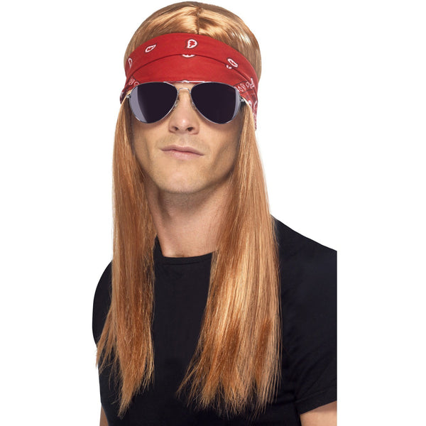 90's Rocker Kit includes Wig, Bandanna and Sunglasses