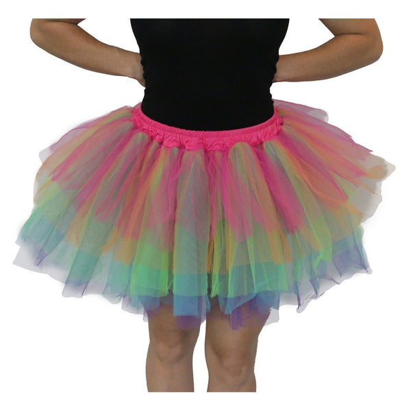 Adult Rainbow Tulle Tutu - Asst Sizes