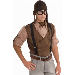 Steampunk Aviator Set - Cap and Goggles