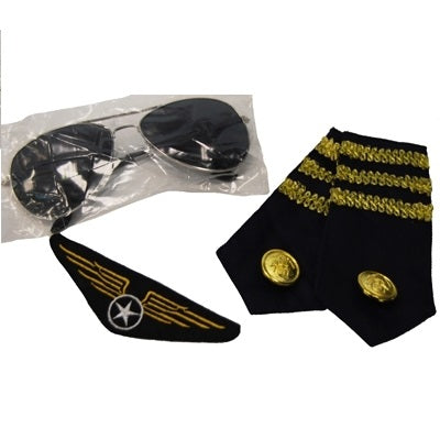 Aviator Kit - Glasses, Epelets & Badge