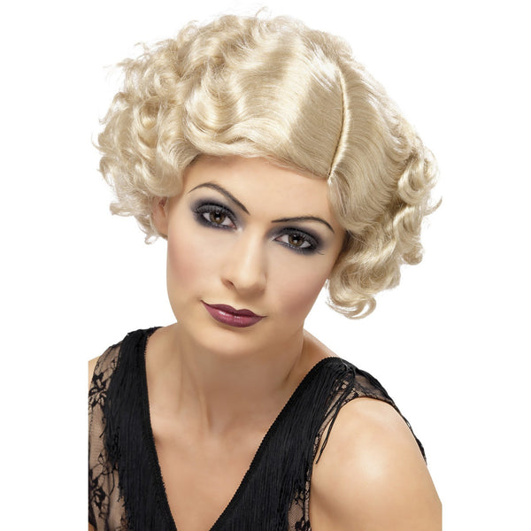 Blonde 20s Flirty Flapper Wig