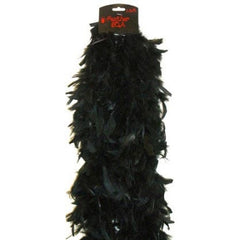 Plush Feather Boa-Black