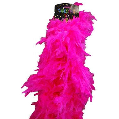 Plush Feather Boa-Hot Pink
