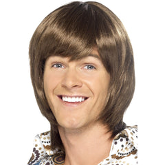 Brown 70's Heartthrob Wig