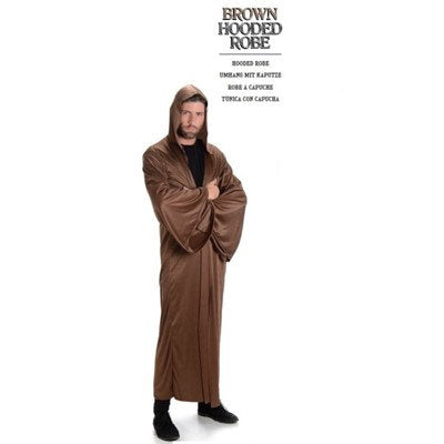 Brown Hooded Robe Adult