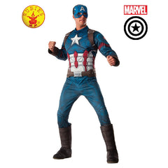 Captain America Deluxe Muscle Chest Mens Costume