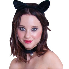 Cat Ears Headband and Collar Set