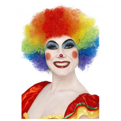 Rainbow Crazy Clown Wig