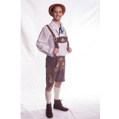 Leather Wolfgang Lederhosen - Brown