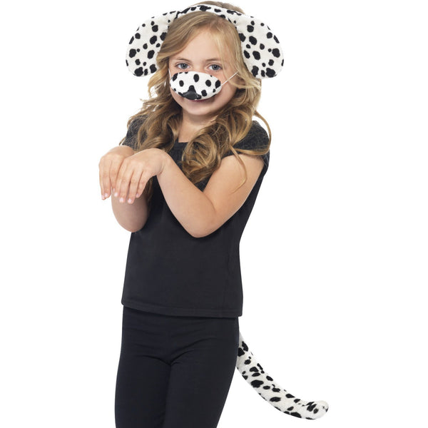 Dalmatian Headband Nose and Tail