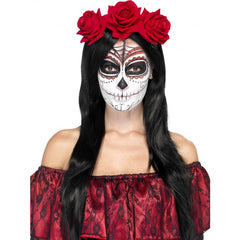Rose Headband - Day of the Dead