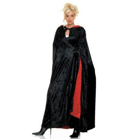 Red Lined Velvet Cape - Hire
