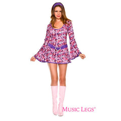 Disco Flower Power Go Go Dress