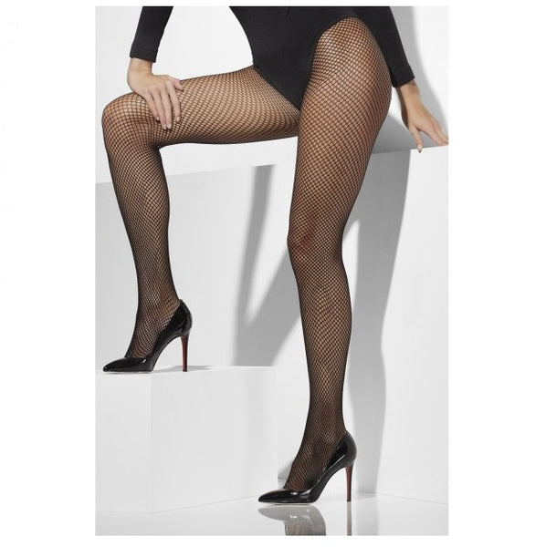 Black Fishnet Tights - Extra Large