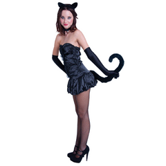 Long Black Cat Tail