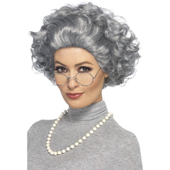 Granny Kit Wig, Glasses & Necklace