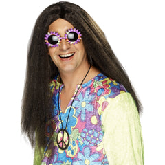 Mens Dark Brown Hippy Wig