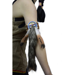 Indian Set of 2 feather Armbands - Brown