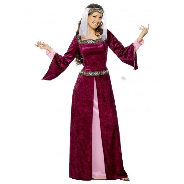 Burgundy Maid Marion Costume