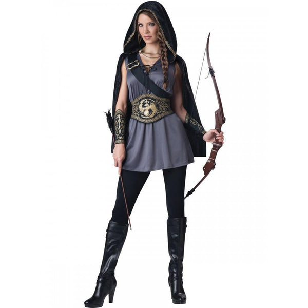 Ladies Medieval Huntress Costume - Hire
