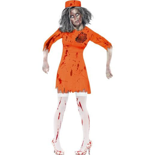 Ladies Zombie Death Row Diva Costume