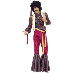 1970s Psychedelic Rocker Fancy Dress Costume