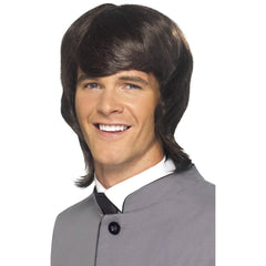 60s Male Mod Wig-Brown