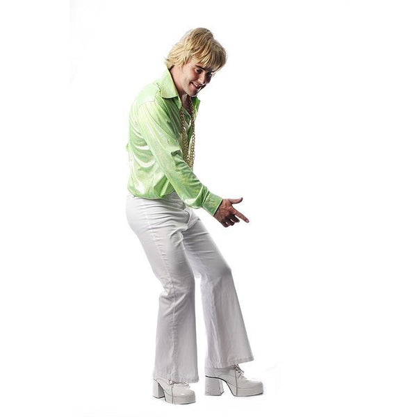 Lime Disco Shirt  and Flares - Hire