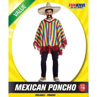 Mexican Poncho - Striped