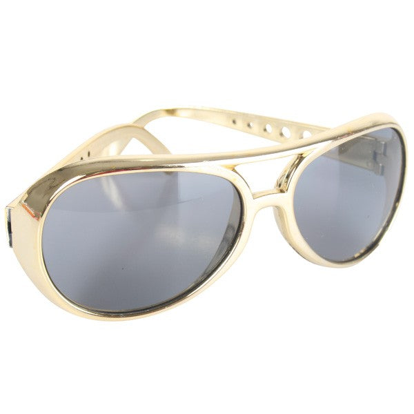 Rock and Roll Elvis Sunglasses in Gold or Silver